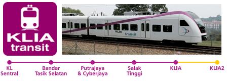 รถไฟฟ้าไปเมืองปูตราจายา กัวลาลัมเปอร์