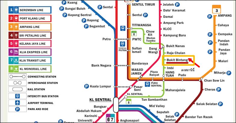 แผนที่รถไฟฟ้ามาเลเซีย